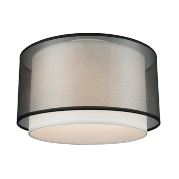 Plafondlamp Ocala zwart doorsnee 25 cm