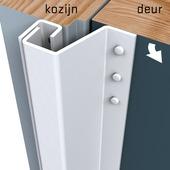 SecuStrip Plus Anti-Inbraakstrip buitendraaiend RAL 9010 (Wit) terugligging 7-13 mm 211,5 cm