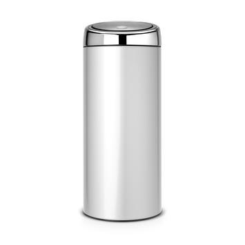 Brabantia 30 Liter Prullenbak.Brabantia Touch Bin Afvalemmer 30 Liter Metallic Grey