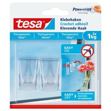 Tesa transparante haak 1 kg 2 stuks