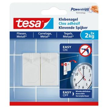 Tesa klevende spijkers tegels en metaal 2 kg 2 stuks