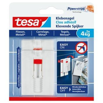 Tesa verstelbare klevende spijkers tegels en metaal 4kg 2 stuks