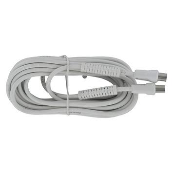 Q-Link coax kabel 3CV2 HF 5 meter stekker recht wit