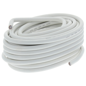 Q-Link coax kabel 20 meter wit kabelkeur