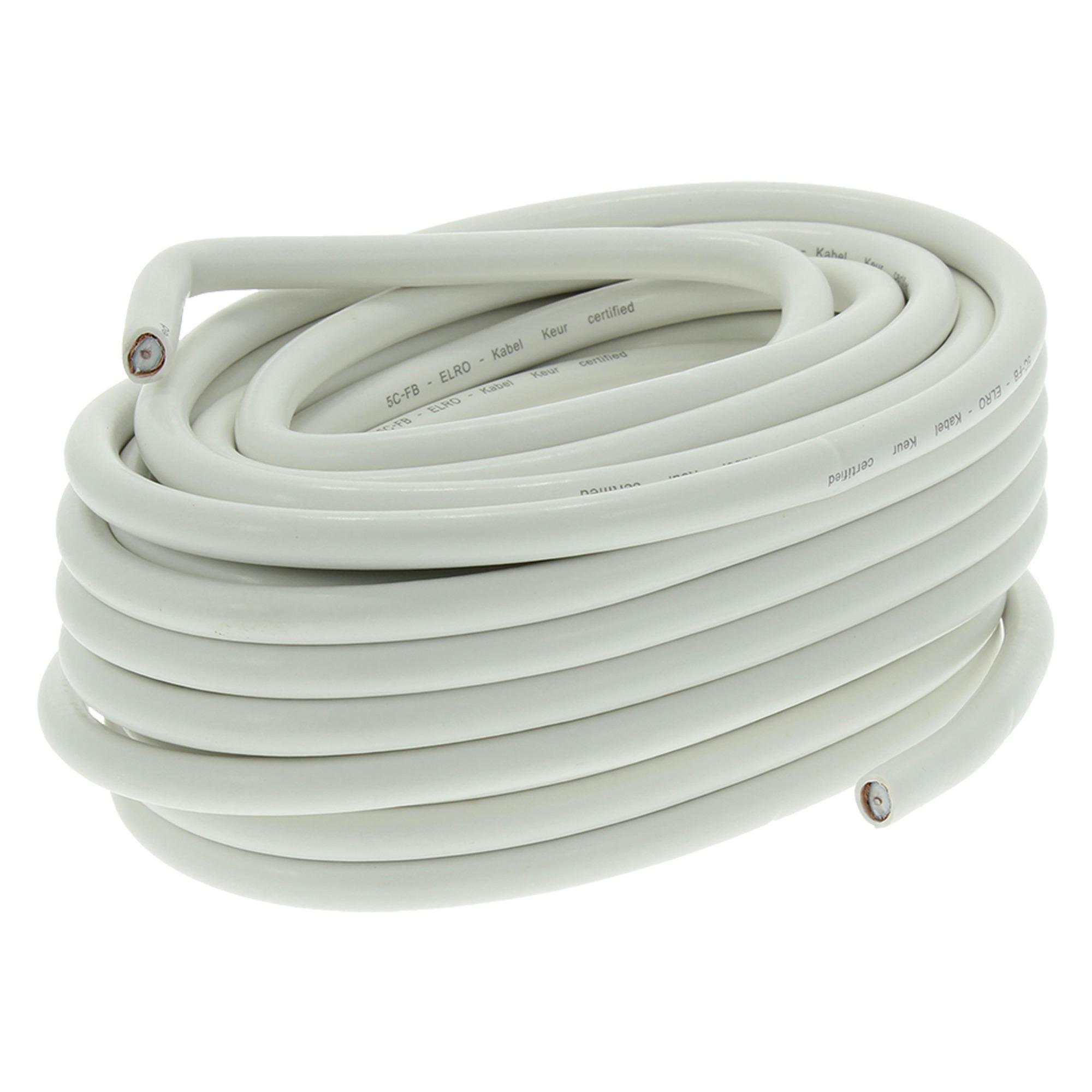 Q-Link coax kabel RG59 50 meter wit