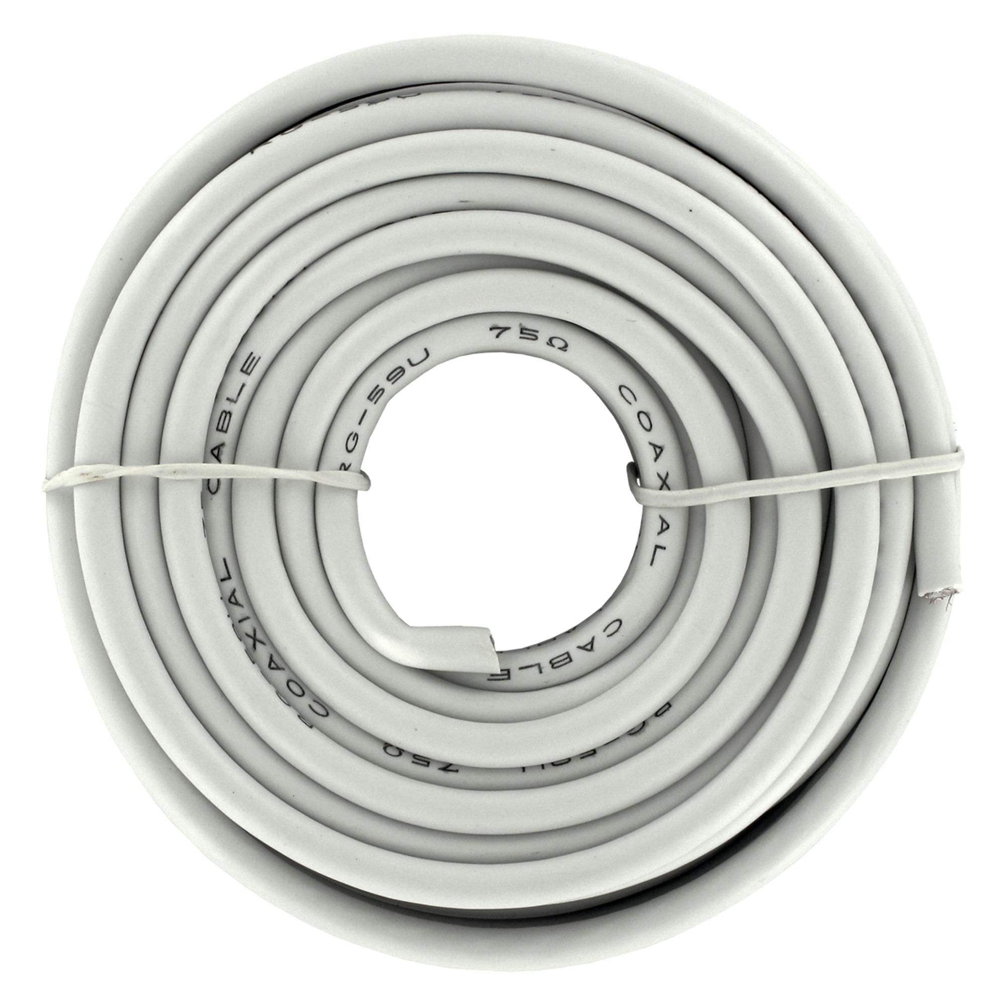 Q-Link coax kabel RG6 10 meter wit