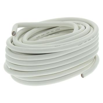 Q-Link coax kabel 10 meter wit kabelkeur