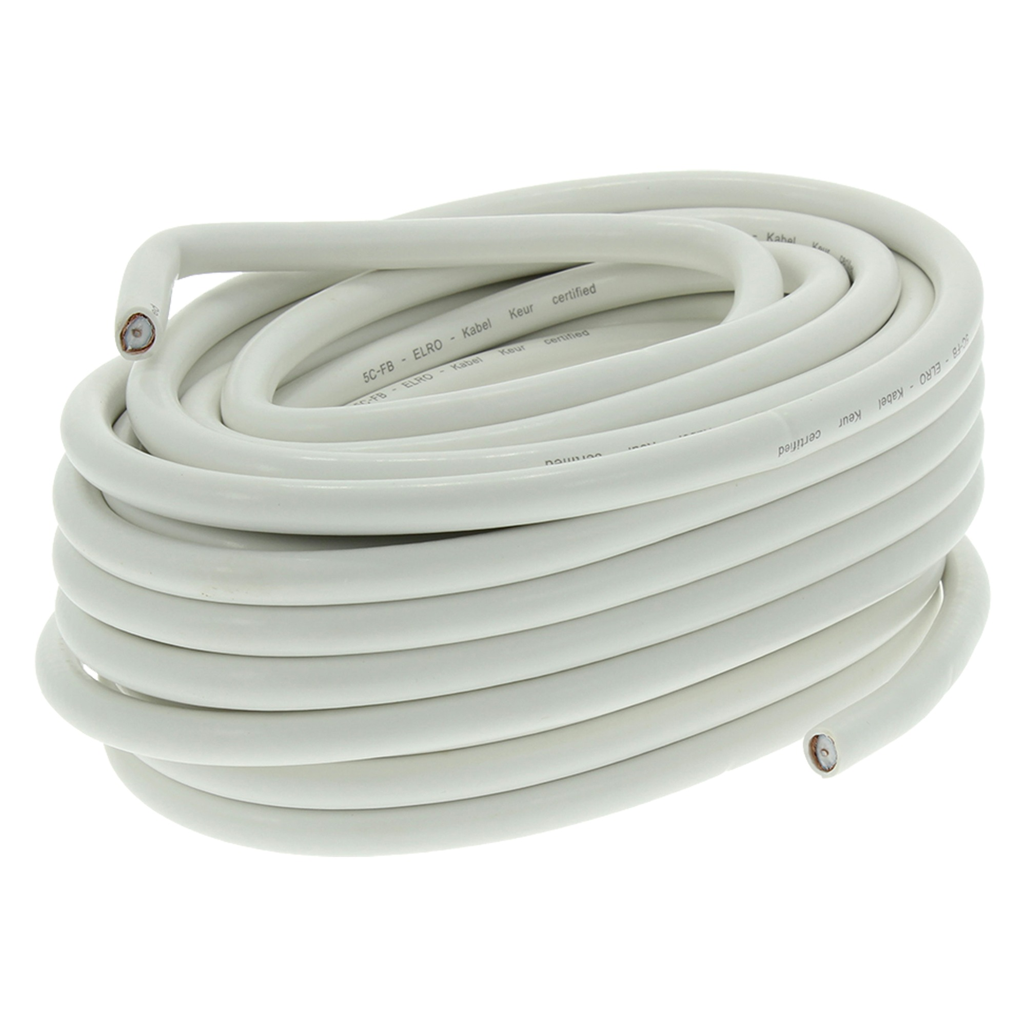 Q-link COAX-kabel HQ 7mm wit 10m