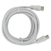 Q-Link coax kabel 3 meter stekker recht wit kabelkeur