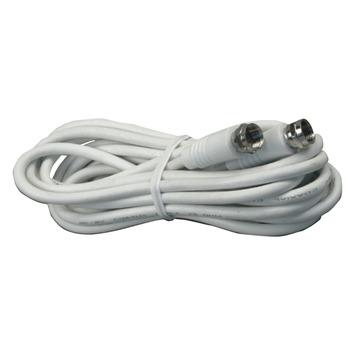 Q-Link coax kabel RG59 2 meter met F-connector wit