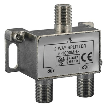 Q-Link coax F-splitter 2-weg/3F-connector