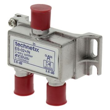 Q-Link coax F-splitter 2-weg/3F-connector kabelkeur