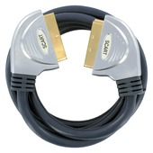 Q-Link scart kabel gold plated 2 meter blauw