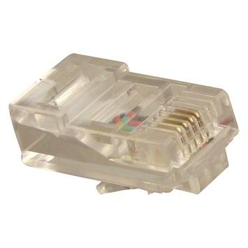 Q-Link telefoon plug modulair RJ11 4 polig 6 stuks