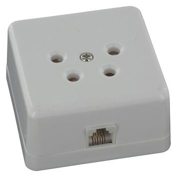 Q-Link telefoon contactdoos opbouw modulair 4 polig wit
