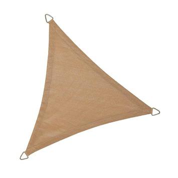 Schaduwdoek driehoek 3,6m zand