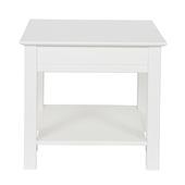 Perpignan bijzet tafel grenen wit 45x50x50 cm