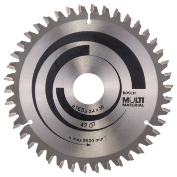 Bosch Prof cirkelzaagblad multi 165x30/20x2,4mm 1st