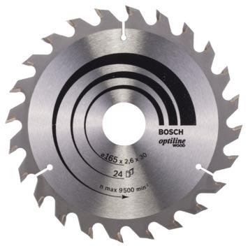 Bosch Prof cirkelzaagblad optiline hout 165x30/20x2,6mm 24