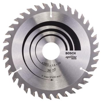 Bosch Prof cirkelzaagblad optiline hout 165x30/20x2,6mm 36