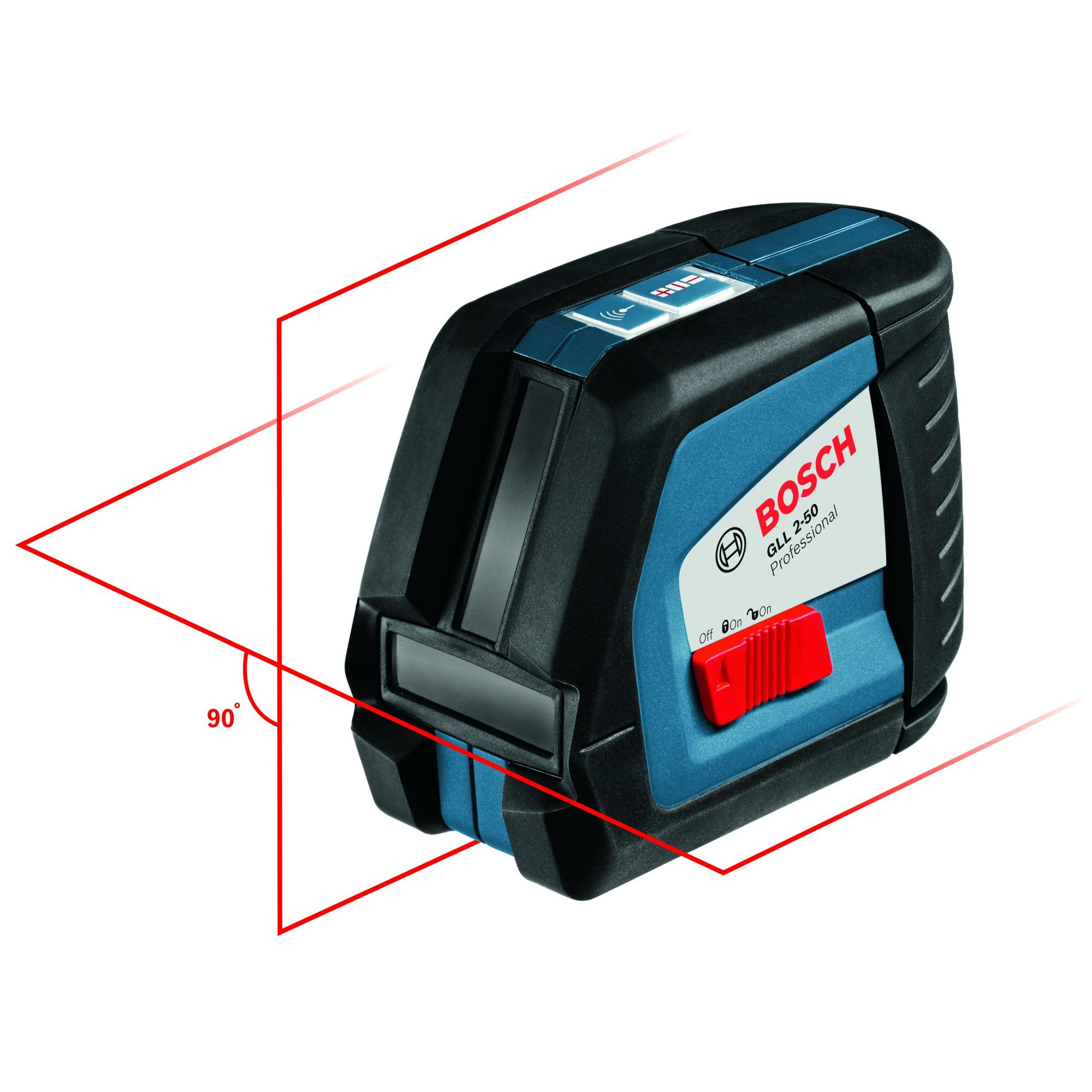 Kruislijnlaser GLL 2-50 P + statief met draaiwielkop BS 150 P Bosch 0601063105