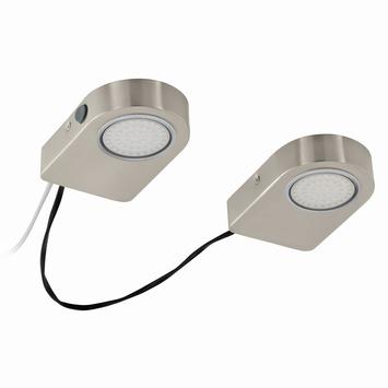 EGLO Opbouwset Lavaio LED nikkel 3,7 watt