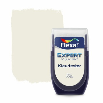 Flexa Expert muurverf Kleurtester RAL9010 gebroken wit 30ml