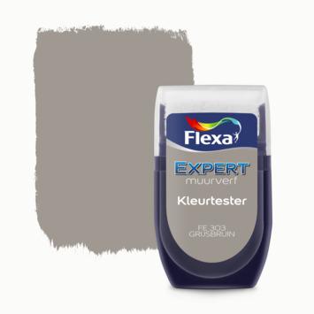 Flexa Expert muurverf Kleurtester Grijsbruin mat 30ml