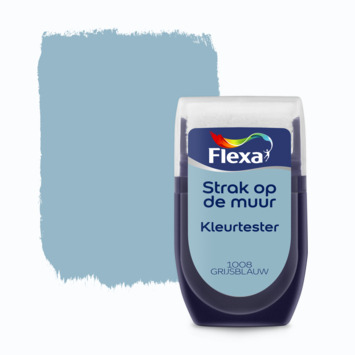 Flexa Strak op de muur Kleurtester Grijsblauw mat 30ml