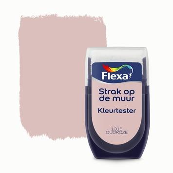Flexa Strak op de muur kleurtester oudroze