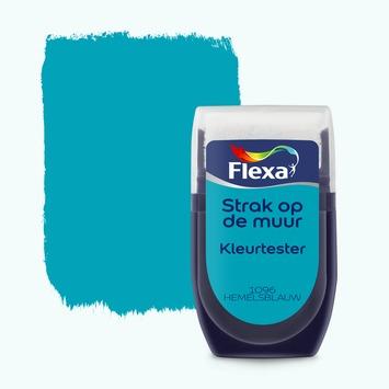 Flexa Strak op de muur kleurtester hemelsblauw