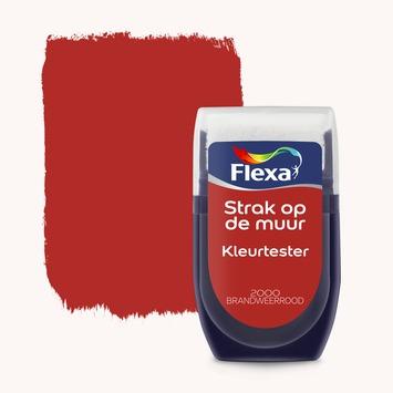 Flexa Strak op de muur Kleurtester Brandweerrood mat 30ml