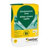 Weber Beamix zandcement snel 20 kg.