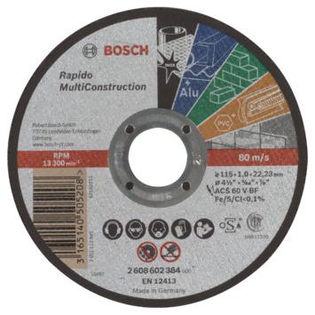 Bosch Prof Doorslijpschijf 115mm 1mm multi