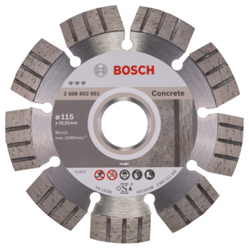 Bosch Prof Diamantzaagblad 115mm beton