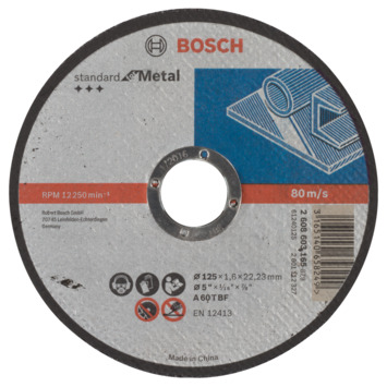 Bosch Prof doorslijpschijf recht metaal 125mm