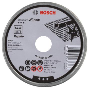 Bosch Prof Doorslijpschijf 115mm 1mm 10-dlg