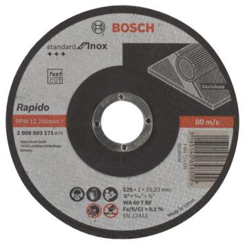 Bosch Prof doorslijpschijf recht inox WA 125mm