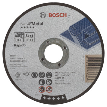 Bosch Prof Doorslijpschijf Extraclean 125mm 1mm metaal