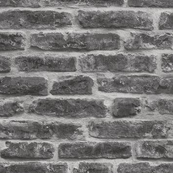 Vliesbehang Stenen grijs 7668