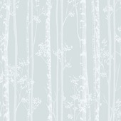 Graham & Brown vliesbehang 100524 linden blauw - wit 10 meter