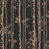 Graham & Brown vliesbehang 100525 linden zwart - koper 10 meter