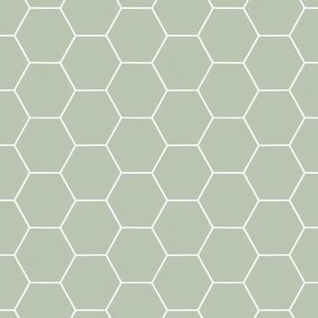 Vliesbehang Honingraat groen 101811
