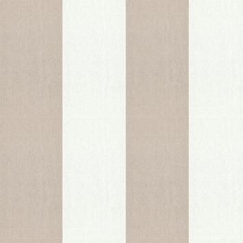 Vliesbehang Streep wit-taupe 101817