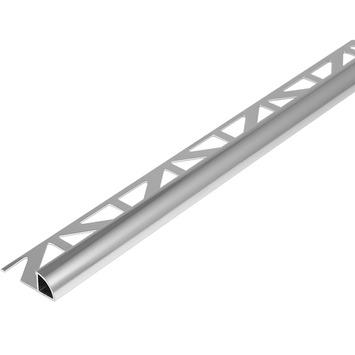 Tegelprofiel kwartrond aluminium Zilver 8 mm