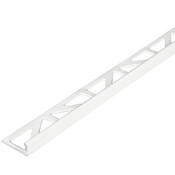 Tegelprofiel haaks 10 mm aluminium wit