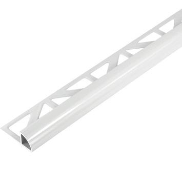 Tegelprofiel kwartrond aluminium wit 8 mm