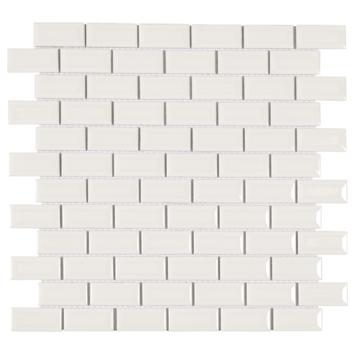 Mozaïektegel Mini Metro Wit 32,2x29,8 cm