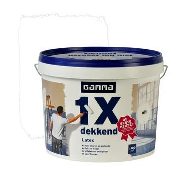 GAMMA latex 1x dekkend wit mat 10 liter