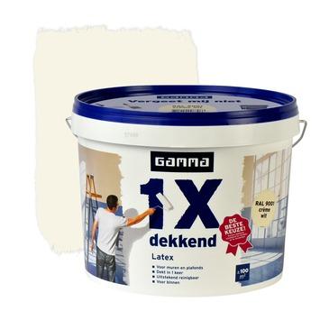 GAMMA latex 1x dekkend RAL 9001 crème wit mat 10 liter